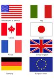 flags g8 stock illustrationer