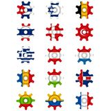Flags gear Royalty Free Stock Images