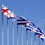 Flags of Georgia and Adjara Stock Image