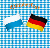 The flags of Germany and Bayern Munich Stock Photos