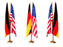 Flags of Germany and the United State Stock Photo