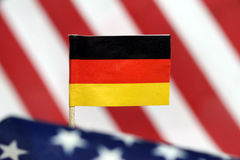 Flags of Germany and US Stock Image