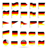 Flags of Germany Stock Photo