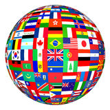 Flags globe. Flags of the world in globe format