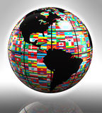Flags globe featuring america Stock Photos