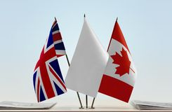 Flags of Great Britain and Canada royalty free stock image