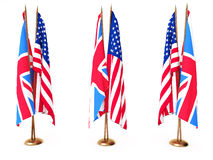 Flags of Great Britain and the United State Royalty Free Stock Image