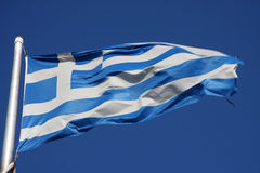 flags greece Royaltyfri Fotografi