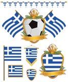 flags greece vektor illustrationer