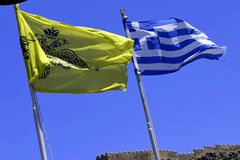 Flags of Greece Stock Photos