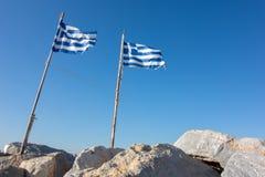 flags grek Arkivfoton