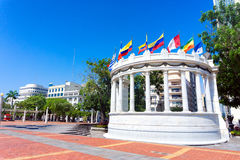 Flags in Guayaquil, Ecuador Royalty Free Stock Image