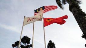 Flags at Gunung Jerai Royalty Free Stock Image