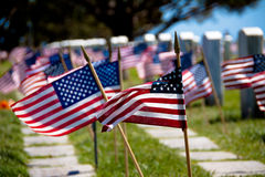 flags headstones Стоковые Фото