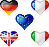 Flags heart Royalty Free Stock Photo
