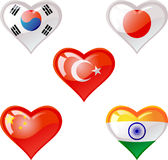 Flags heart Royalty Free Stock Image