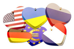 Flags heart - Patriotism - Illustration Royalty Free Stock Photos
