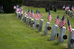 Free Flags Honor The Fallen Royalty Free Stock Photography - 14574597