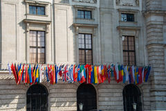 Flags at the HQ of OSCE Stock Photography