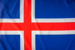 flags iceland Arkivfoto