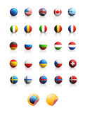 Flags icons Stock Photography