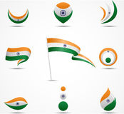 Flags and icons of India Stock Photos