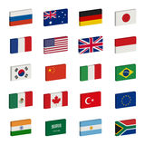 Flags icons Stock Images
