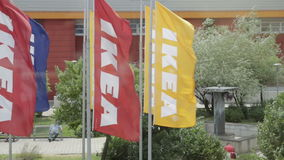 Flags Ikea stock video