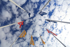 Flags with Ikea logo Stock Images