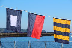 Flags of international maritime code Royalty Free Stock Image
