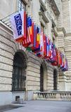 Flags. International set of flags on Hofburg palace (OSCE headquarter), Vienna, Austria Stock Photo