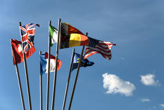 flags internationalen Arkivbild