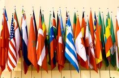 flags internationalen royaltyfria bilder
