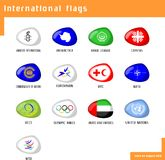 flags internationalen Arkivfoto
