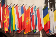 flags internationalen Arkivbild