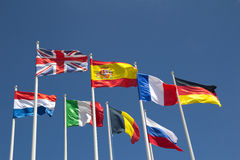 flags internationalen Arkivbilder