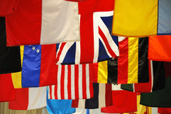 flags internationalen Royaltyfri Fotografi