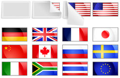 flags internationell överföring Fotografering för Bildbyråer