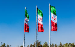 Flags of Iran stock image