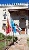 Flags at Islamic Center Royalty Free Stock Photo