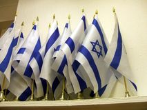 Flags of Israel Royalty Free Stock Photos