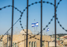 Flags of Israel Stock Photography