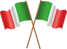 Flags of Italy Stock Photography