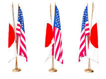 Flags of Japan and the United State Royalty Free Stock Image