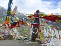 flags jingfan тибетец молитве s стоковые фотографии rf