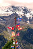 Flags in Jungfrau Stock Image