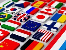Flags keyboard Stock Image
