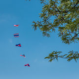 Flags kite Royalty Free Stock Images