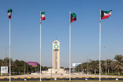 Flags of Kuwait Royalty Free Stock Photography