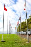 Flags in Liberty Park royalty free stock photo